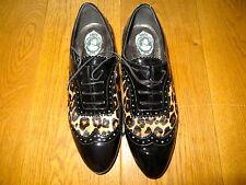RARE! Philipp Plein Rockstar Maje Leopard bout pointu et Plates Chaussures Pour Taille UK6, 39