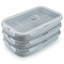 Kuuk Collapsible Silicone Leakproof Food Storage Container Perfect for Meal Prep