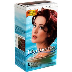 Clairol HYDRIENCE Permanent Hair Colour Kit HIBISCUS 32 Level 3 (Deep Red) BNIB