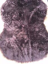 54 X 26 inch (130 X 70cm) CHOC BROWN FLUFFY PILE FAUX FUR ANIMAL SKIN RUG