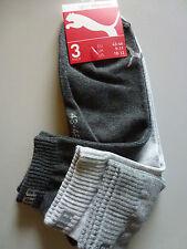 Puma 3er Pack Quarter Socken  Kurzschaftsocken anthracit/mel grey Gr. 47-49