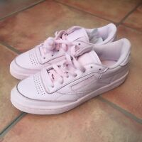Brand New in Box Reebok Classic Club C 85 ELM Trainers UK 4.5 Porcelain Pink