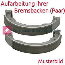 Bremsbacken (Paar) neu geklebt für MZ RT 125/3 | Aufarbeitung Ihrer Bremsbacken