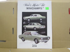 Paul's Model Art / Minichamps Katalog, Resin 2, 2014, deutsch, 16 Seiten