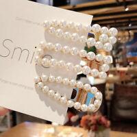 Fashion Women Pearl Hairpin Hair Clip Snap Barrette Stick Hair Accessories Gift