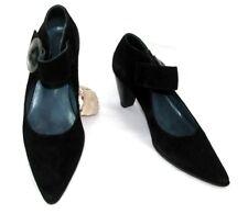 JB MARTIN Chaussures bride scratch cuir velours noir 37 TRES BON ETAT