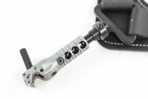 New B3 Archery Hawk Buckle Strap Release Aid w/ Swivel Connector- Gunmetal Grey