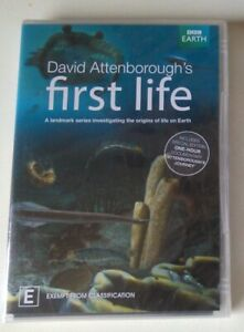 FIRST LIFE dvd REGION 4 david attenborough PREHISTORIC DOCUMENTARY bbc earth NEW