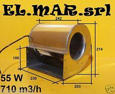 Ventilatore Centrifugo Motore elettrico 55 W aspirazione doppia 230V Monofase