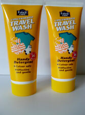 2 DYLON FABRIC CARE CONCENTRATED HANDY SIZE TRAVEL WASH DETERGENT UP TO 20 WASH