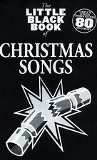 Petit livre noir de chansons de Noël apprendre jouer du piano guitare Paroles music book