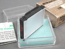 Nikon F3 Einstellscheibe Typ D, Vollmattscheibe mit Box