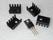 Small Aluminum To-220 Heatsinks - 10 pcs
