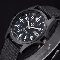 Outdoor Date Stainless Steel Military Sports Analog Quartz Army Mens Wrist Watch