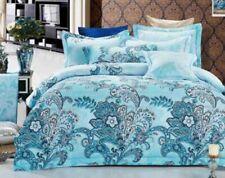 Bed Spread Queen Size Quilt Cover Set 3pc Ricoco Aqua