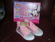 Disney Minnie Mouse Toddler Girls Size 11 Shoes Pink High Top Glitter Sneakers