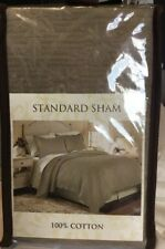 Nip Coventry Taupe Quilted Standard Pillow Sham 20�x26� 100%Cotton Scalloped