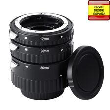 Tubo extension macro confirmacion enfoque para Nikon D7100 D5100 D3200 D700 D80