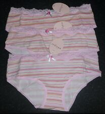 Ladies Stripey Hipster Briefs Knickers Shorts NEW Sizes 10-18 1 Brief