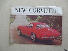 Original 1963 Chevrolet Corvette advertising booklet