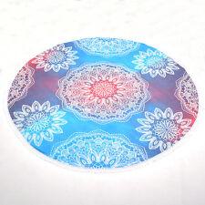 Round Tie Dye Mandala Tapestry Hippie Wall Hanging Beach Throw Yoga Mat