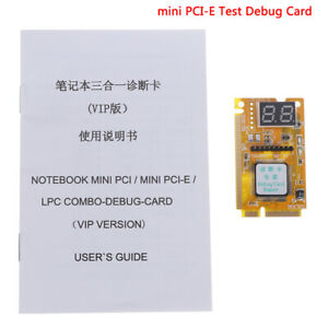 1Pcs Mini PCI-E PC laptop diagnostic post test debug card + LPC cable E&F Tg