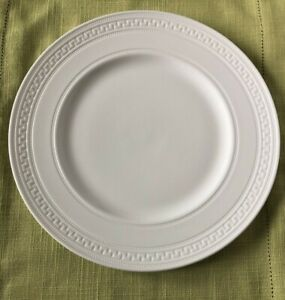 Two Wedgwood Intaglio Dinner Plates 10.75 Inch White Bone China New with tags