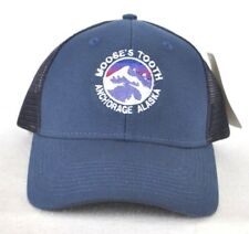 *MOOSE'S TOOTH ANCHORAGE ALASKA* Trucker mesh Ball cap hat snapback embroidered