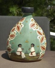 Angel Ortiz Tonala Mexico Folk Art Vase Jar Signed EXC