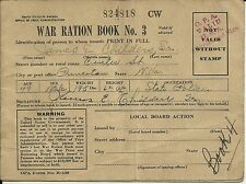1943 U.S. Military WWII War Ration Book No. 3 with Stamps