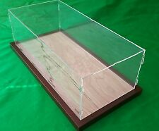 22 x 9 3/4 x 7 Pocher 1/8 Acrylic Display Case Showcase Wood Base for 1:8 Model