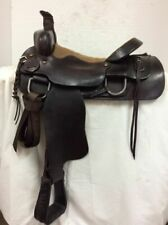 """Western Used 16"""" Hd Trail and Roping Saddle - Regular Quarter Horse Bar"""