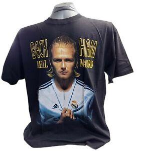 Beckham Real Madrid Men's NWOT Black T-Shirt Size XL