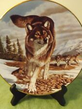 Hamilton Leader of the Pack 'Year of the Wolf' Limited Edition Plate by Al Agnew