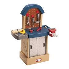 Little Tikes Tough Workshop Work Shop Pretend Play Toy Tool Bench 621628