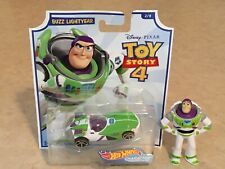 2019 HOT WHEELS DISNEY PIXAR TOY STORY 4 CHARACTER CAR And Movie Figure Buzz