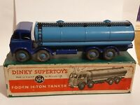 DINKY MECCANO SUPERTOYS DIECAST MODEL No 504 FODEN 14 TON TANKER LORRY BOXED