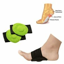 Adjustable Slip-on Fallen Arches Plantar Fasciitis Arch Support Pad Foot Sleeve