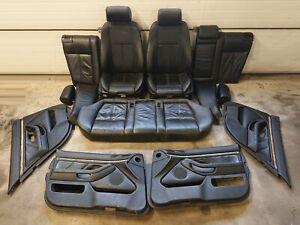 ✅✅✅BMW 5 SERIES E39 SALOON BLACK LEATHER HEATED SEATS SET 3