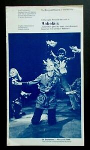 Rabelais programme National Theatre Old Vic 1969 Compagnie Renaud-Barrault