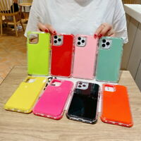Shockproof 360° TPU Silicone Case Cover For iPhone 12 11 Pro Max XS XR 8 7 Plus