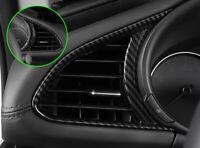 For Mazda3 BP 2020 Carbon Fiber Color Dash Side Air Vent Outlet Frame Cover Trim