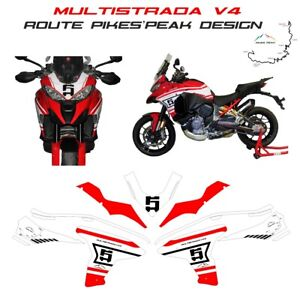 Complete Kit Stickers Route Pikes Peak Design - Ducati Multistrada V4