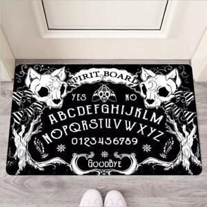 Cat Skull Ouija Board Welcome Doormat Gothic Mat Rug Halloween Gift Occult Vibe