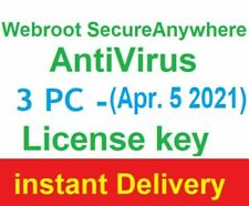 ✅ Webroot SecureAnywhere AntiVirus License Key ✅3 pc ✅ 1 year instant Delivery ✅