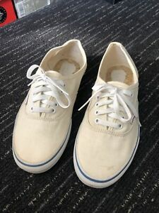 Vans Authentic Off White / Blue Sneakers / Deck Shoes Size US 9 SKATE SURF OTW