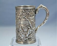 Chinese Export Sterling Silver Small Cann/Mug Cumshing, Canton Circa 1820s
