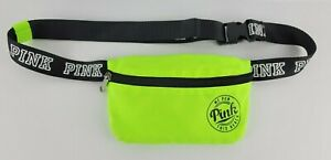 Victoria Secret Pink Womens Fanny Pack Logo Neon Yellow Bag