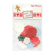 DEAR SANTA BY HELZ CUPPLEDITCH PAPER BLOSSOMS EMBELLISHMENTS FOR CARDS/CRAFTS