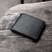 Ultra-thin Short Wallet Luxury Leather Men's Wallet Bifold Purse Card Holder